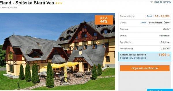 Slovensko: Spišská Stará Ves na 3 dny s polopenzí za 1 990 Kč! Sleva 44 %!