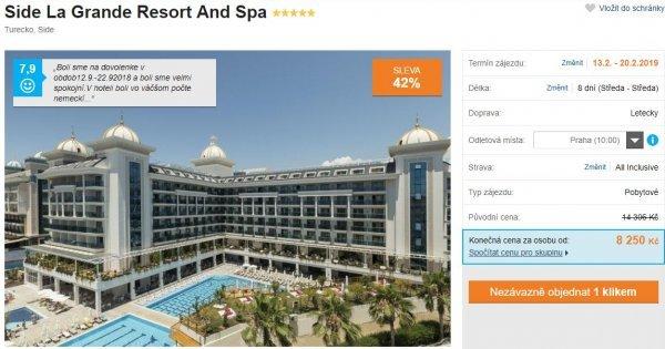 Turecko z Prahy v 5* hotelu s All Inclusive za 8 250 Kč! Sleva 42 %!