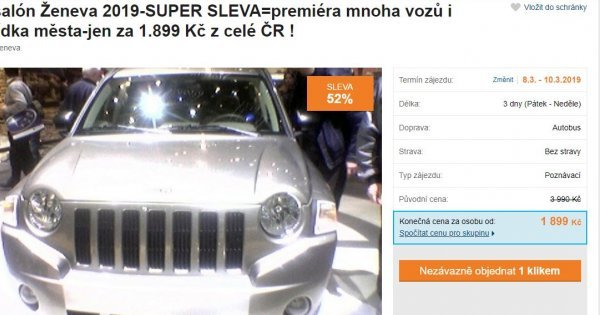 Autosalón Ženeva: autobusový zájezd na 3 dny za 1 899 Kč! Sleva 52 %!