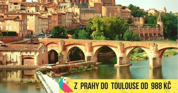 Z Prahy do Toulouse v září za 988 Kč