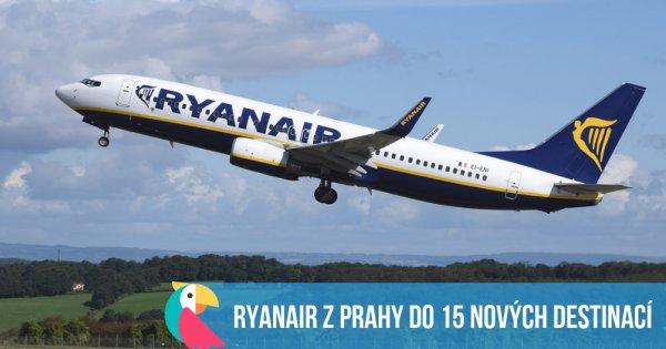 Nové linky Ryanairu z Prahy - celkem 15 nových destinací!