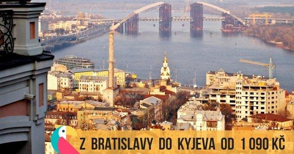Z Bratislavy do Kyjeva od 1 090 Kč na podzim