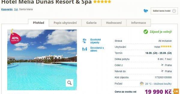 Exotické Kapverdy z Prahy v 5* hotelu na 8 dní s All Inclusive za 19 990 Kč! Sleva 40 %!