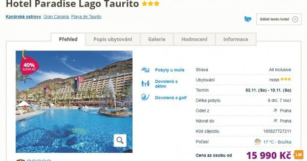 Grand Canaria z Prahy na 8 dní s All Inclusive se vstupem do Aquaparku za 15 990 Kč! Sleva 40 %!