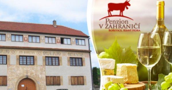 Vinařský pobyt v Bořeticích s polopenzí pro 2 osoby na 3 dny za 1 599 Kč!