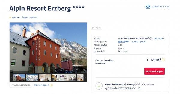 Rakouské Alpy na lyžích - 5 dní za 690 Kč