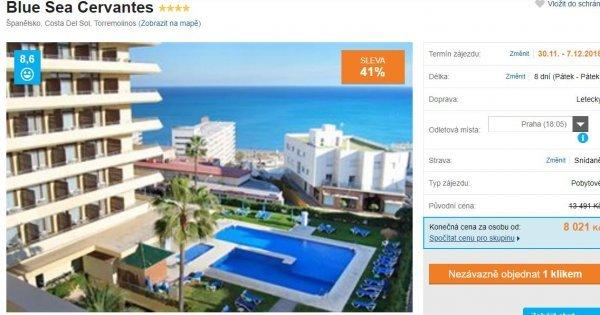 Jižní Španělsko z Prahy na 8 dní v 4* hotelu se snídaní za 8 021 Kč! Sleva 41 %!