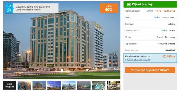 Dubaj z Prahy na 4 dny za 12 700 Kč, luxusní 5* hotel, sleva 60 %