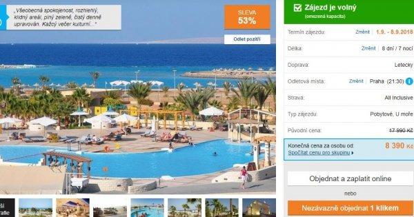 Egypt z Prahy sleva 53%: Hurghada na 8 dní s All inclusive za 8390 Kč