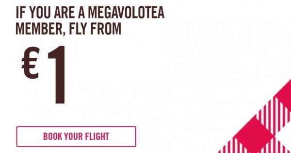 Akce Volotea: letenky za 1 Euro pro členy MegaVolotea!