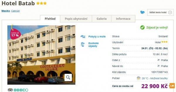 Mexiko: Cancún z Prahy na 10 dní za 22 900 Kč!