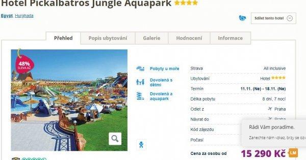 Egypt z Prahy na 8 dní s All Inclusive v hotelu s vlastním velkým aquaparkem za 15 290 Kč! Sleva 48%