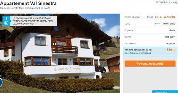 Prodloužený víkend v Rakousku, přímo u velkých lyžařských areálů v apartmánu za 830 Kč!