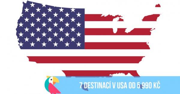 7 destinací napříč USA z Vídně od 5 990 Kč, z Prahy pak od 7 590 Kč!