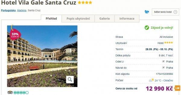 Madeira na 8 dní v 4* hotelu s All Inclusive za 12 990 Kč! Sleva 59 %!