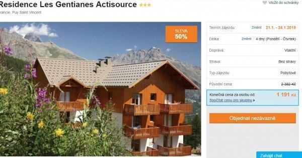 Francouzské Alpy na 4 dny v apartmánech přímo u sjezdovek za 1 191 Kč! Sleva 50 %! Lednové termíny!