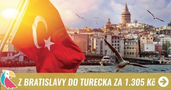 Z Bratislavy v září do Turecka za 1 305 Kč