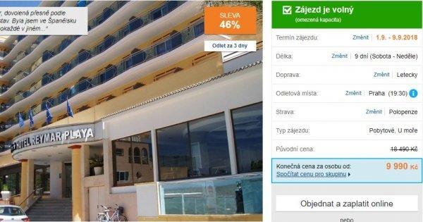 Španělsko z Prahy: Costa Brava 9 dní s polopenzí za 9990 Kč, sleva 46%