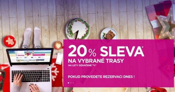 WizzAir sleva 20 % na vybrané lety bez nutnosti členství! Pouze dnes!
