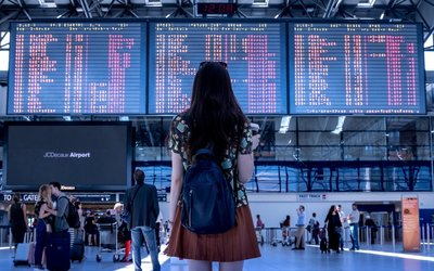 Krok za krokem poprvé na letišti