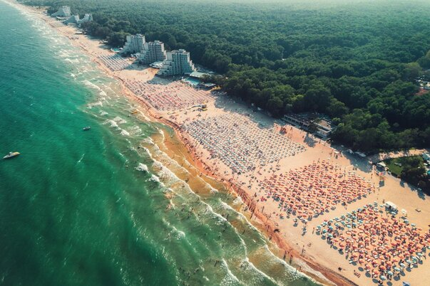 Pláž Albena v Bulharsku