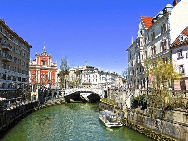 Slovinské město Lublaň