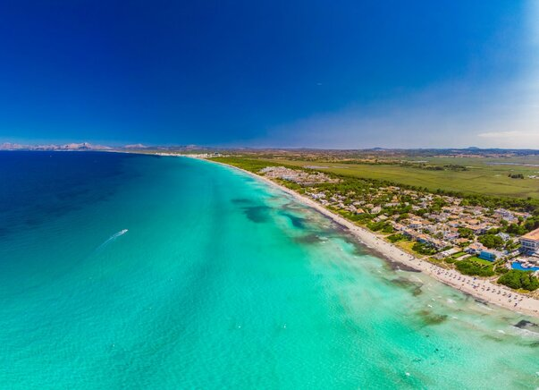 Pláž Playa de Muro na Mallorce