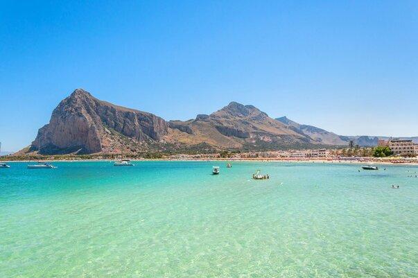 Pláž San Vito Lo Capo na Sicílii