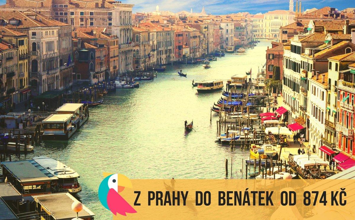 Z Prahy do Benátek v září od  874 Kč