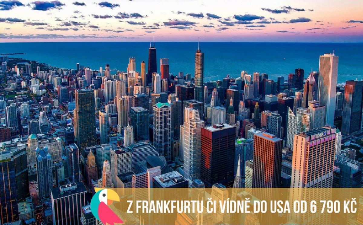 Z Frankfurtu či Vídně do USA od 6 790 Kč