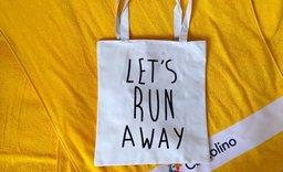 Bavlněná kabelka Let's run away