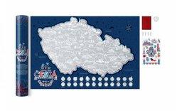 Stírací mapa Travel Map Česká republika