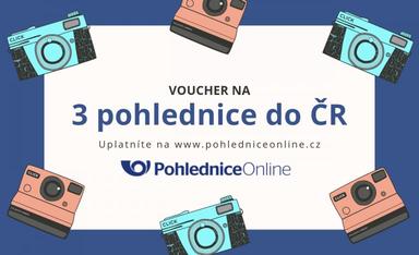 Poukázka na 3 pohlednice do ČR